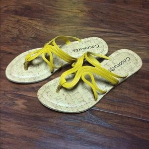 Shoes - Coconuts Yellow Sandals